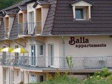Cazare Balatonkeresztúr, Apartament Balla