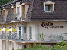 Cazare Balatonszentgyörgy, Apartament Balla